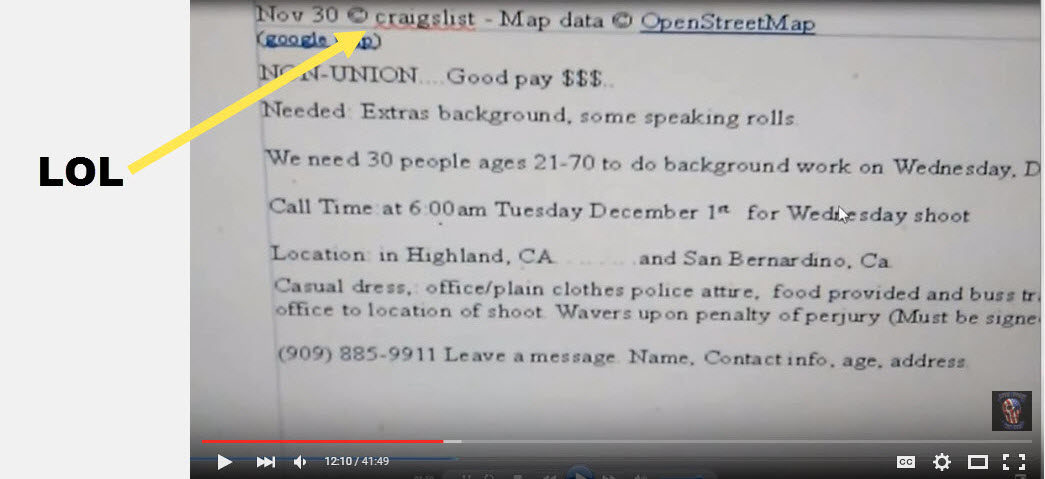 """Were """"Crisis Actors"""" Hired From Craigslist For San"""